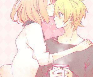 anime, kawaii, and kiss image