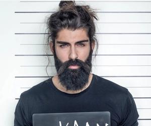 beard, bearded, and boy image