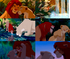 cartoons, couple, and lions image