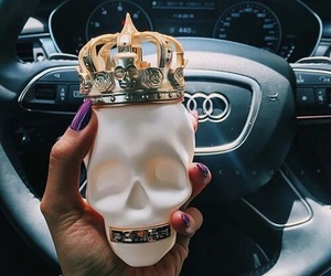 nails, skull, and car image