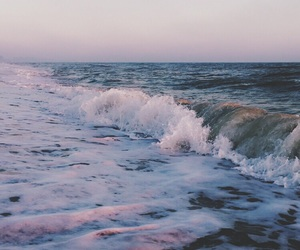 ocean, photography, and pink image