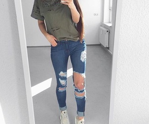 fashion, hair, and bluejeans image