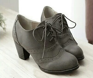 brown, heels, and oxford image