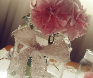 pink, roses, and vintage image