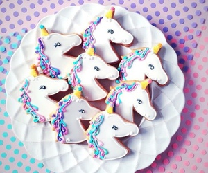 unicorn, food, and Cookies image