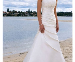 sexy wedding dress, fashion wedding dress, and sheath wedding dress image