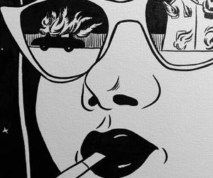 art, fire, and pop art image