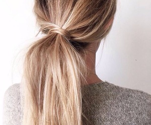 hair, ponytail, and style image