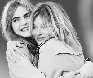 model, cara delevingne, and kate moss image
