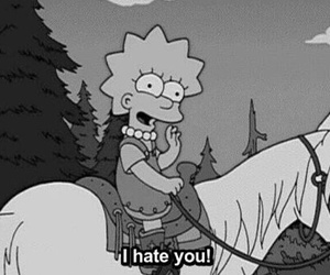 hate, simpsons, and lisa image