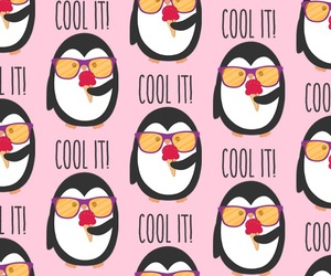 cool, penguins, and pink image