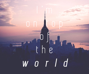 Lyrics, on top of the world, and song image