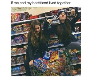 best friends, food, and goals image