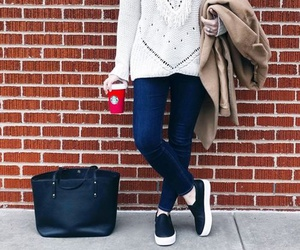 clothes, fashion, and coffee image