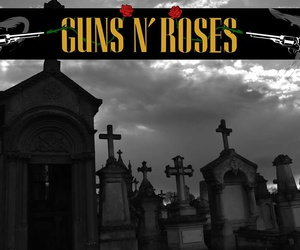 guns, n, and rose image