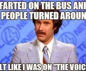funny, the voice, and bus image