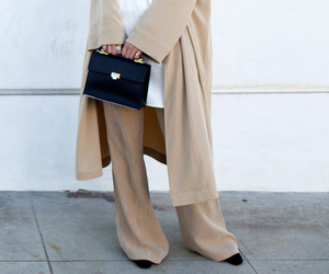 beige, fashion, and street style image
