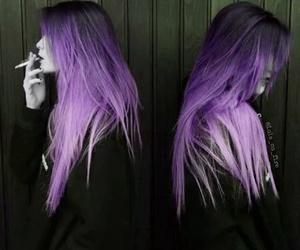 hair, girl, and smoke image