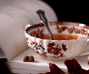 tea, book, and autumn image