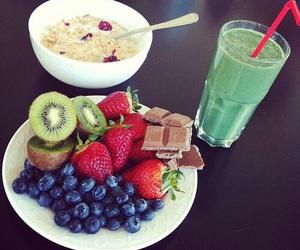 food, fruit, and chocolate image