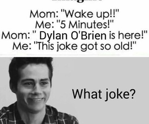 dylan o'brien, teen wolf, and joke image