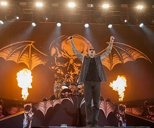 avenged sevenfold, m shadows, and concert image