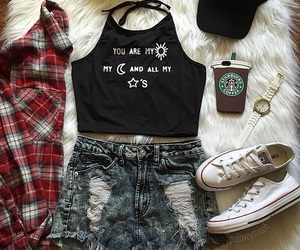 clothing, converse, and fashion image