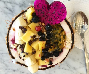 coconut, food, and FRUiTS image