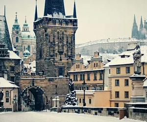 cities, czech republic, and winter image