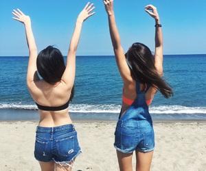 beach, bff, and girls image