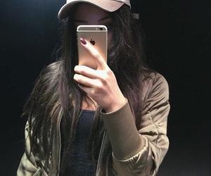 bomber, cap, and fashion image