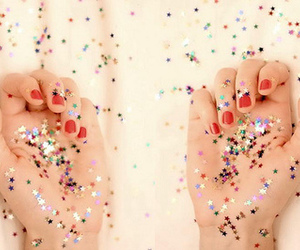 hands, stars, and glitter image