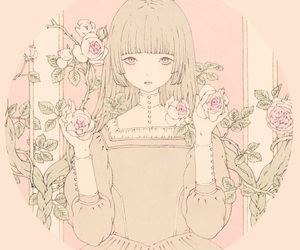 anime, girly, and rose image