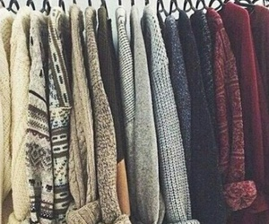 cool, knitwear, and warm image