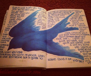 bird, coldplay, and journal image
