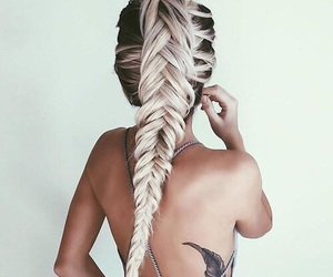 alternative, feather, and fishtail image