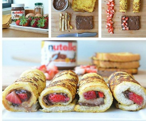 nutella and strawberry image