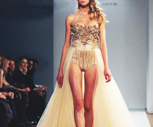 2012, blonde, and cat walk image