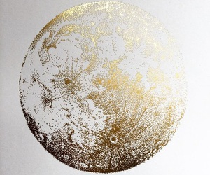 gold, moon, and aesthetic image