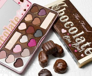 chocolate, makeup, and too faced image