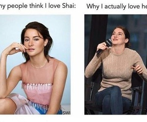humor, like, and Shailene Woodley image