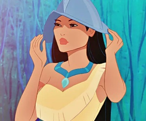 pocahontas, disney, and princess image