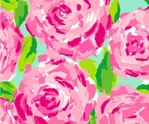pink, floral, and rose image