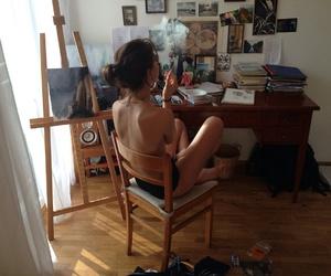 art, girl, and life image