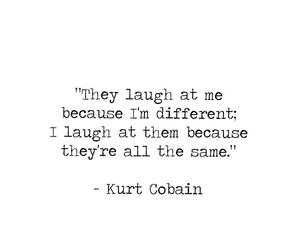 beautiful, different, and kurt cobain image