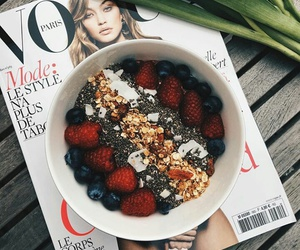 berries, breakfast, and cereal image
