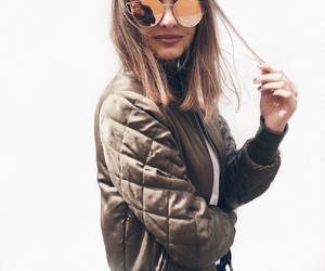bomber, fashion, and green image