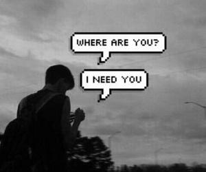 grunge, need, and sad image