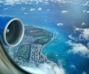 plane, travel, and sky image