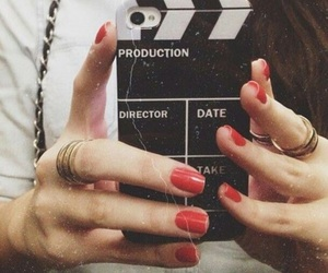 nails, photography, and red image